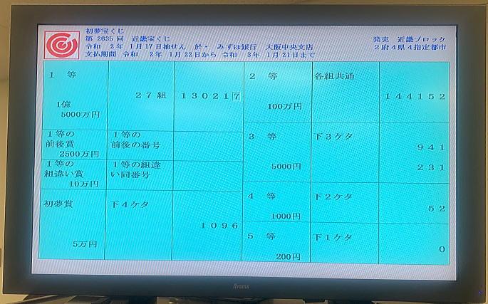 日 発売 初夢 宝くじ